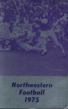 Northwestern Football Guide from 1975!