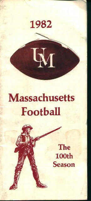 Massachusetts Football Guide for 1982!