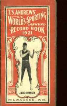 TS Andrews Worlds Sporting Record book 1921