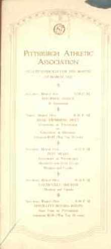 1922 Pgh Athletic Assoc Program boxing & swim