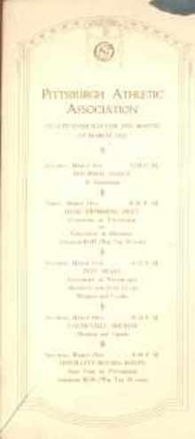 1922 Pgh Athletic Assoc Program boxing & swim