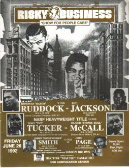 Risky Business 1992 Program Ruddock v Jackson