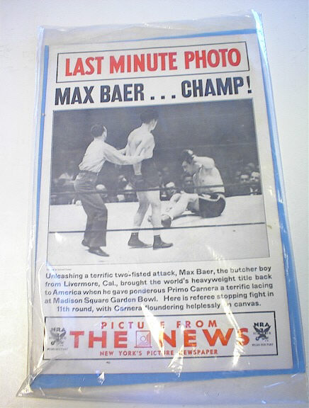 Picture From The News Max Baer & Primo Carner