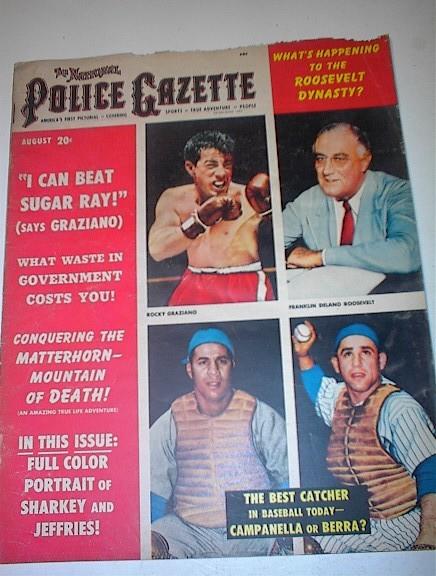 Police Gazette,8/51,Rocky Graziano cover