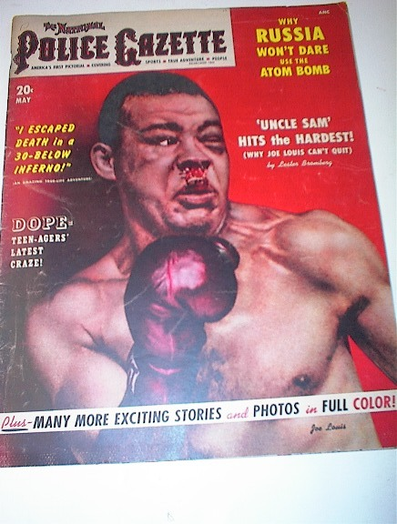 Police Gazette,5/51,BLOODY Joe Louis COVER