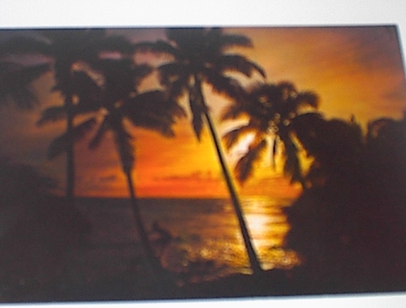 1960 BEAUTIFUL Sun Set on San Blas Island