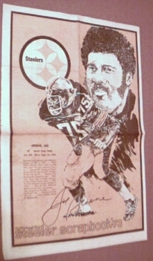 Joe Greene Pgh Steeler 1973 news portrait
