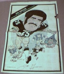 Joe Greene Pgh Steeler 1980 news portrait