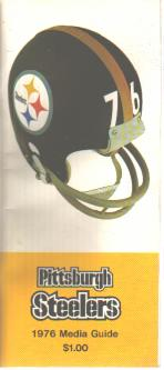 Steelers 1976 Media Guide Excellent Condition