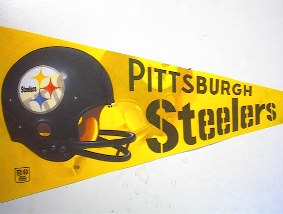GREAT Pittsburgh Steelers Pennant,1980 ?