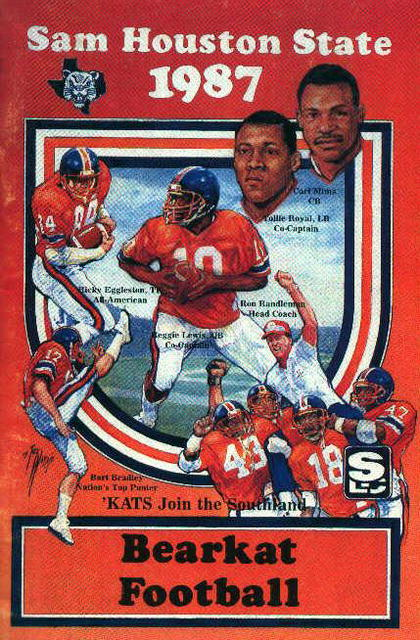 Sam Houston State College Football Guide 1987