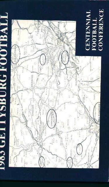 Gettysburg Football Guide for 1983!
