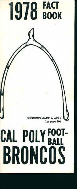 Cal-Poly Football Fact Book 1978!