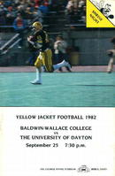 Balwdin Wallace vs U of Dayton 9/25/82