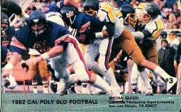 Cal-Poly Slo Football 1982 Media Guide