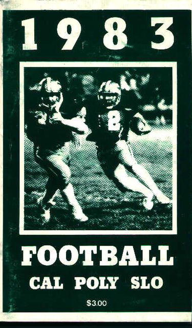 Cal-Poly Slo Football Guide from 1983!