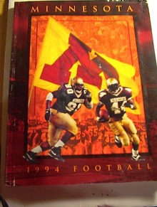 1994 Minnesota Football Mdia Guide