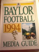 1994 Baylor Football Mdia Guide