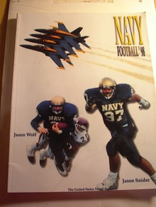 1998 Navy Football Media Guide,Jason Wolf