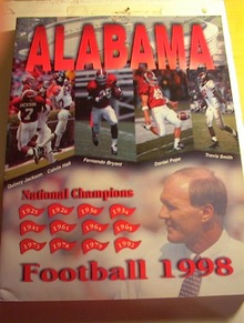 1998 ALABAMA University Football Media Guide