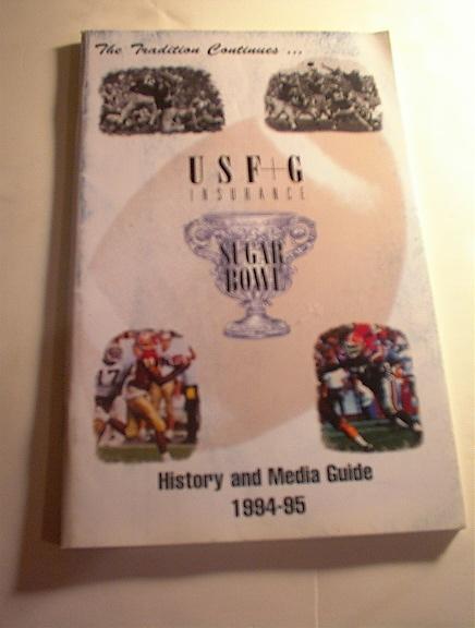 1994-95 Sugar Bowl History and  Media Guide