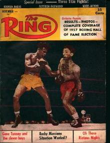 The Ring-11/57-Gene Tunney, Marciano,Robinson