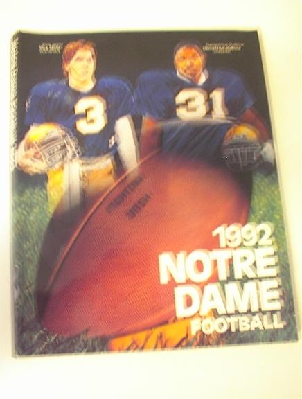 1992 Notre Dame Football Media Guide