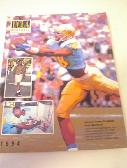 1994 UCLA Football Media Guide/ J.J Stokes!