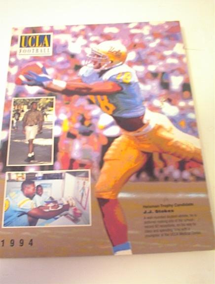 1994 UCLA Football Media Guide/ J.J Stokes!
