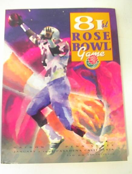 1/2/95 81st Rose Bowl Oregon vs Penn State