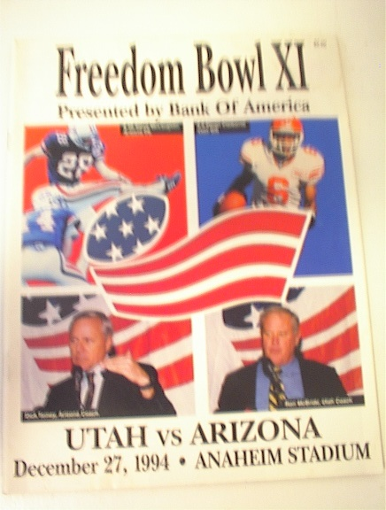 12/27/94 Freedom Bowl Utah vs Arizona Media G