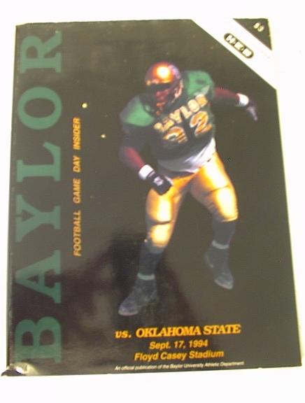 9/17/94 Baylor vs Oklahoma State Media Guide