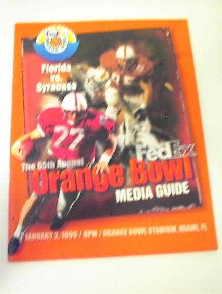 65th Orange Bowl Florida vs Syracuse Media G