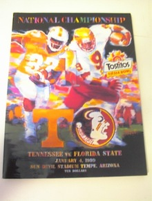 1/4/99 Tostitos Fiesta Bowl Tenn vs florida