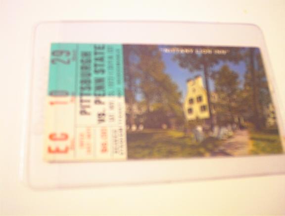 11/25/72 Pittsburgh vs Penn State Ticket Stub