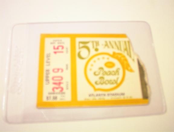 12/29/72 5th Annual Peach Bowl Ticket Stub