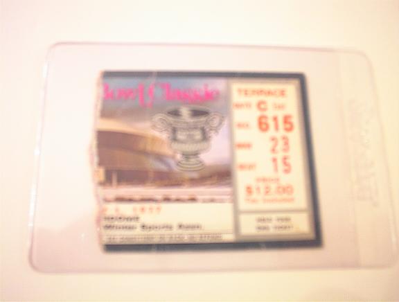 1977 Bowl Classic Tixket Stub