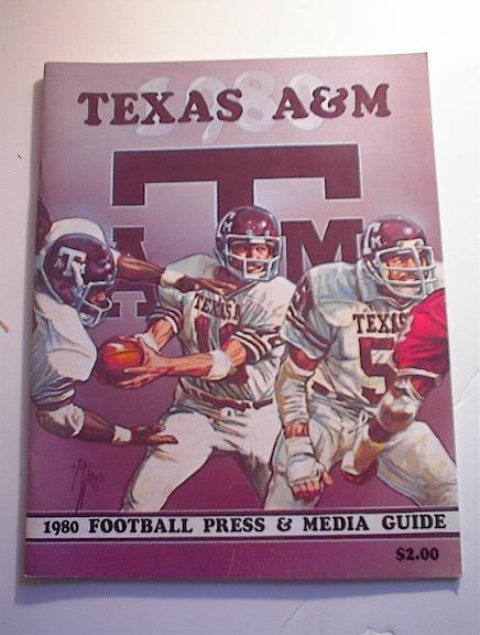 Texas A & M 1980 Football Press & Media Guide