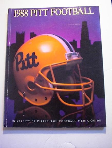 1988 PITT Football Media Guide
