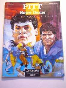 PITT vs NOTRE DAME October 8,1988 Program