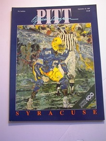PITT vs SYRACUSE September 23,1989 Program