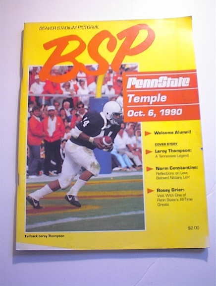 BSP PENN STATE VS TEMPLE October 6,1990