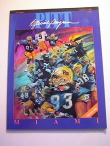 PITT vs MIAMI November 11,1989 Program