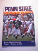 PENN STATE vs RUTGERS October 19,1991 Program