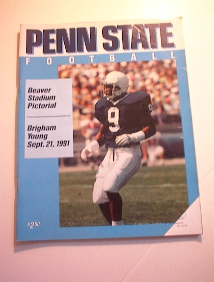 PENN STATE vs BRIGHAM YOUNG 9/21/1991 PROGRAM