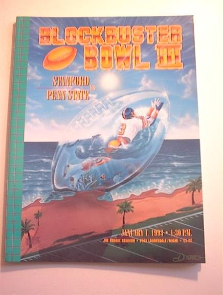 STANFORD vs PENN STATE 1/1/93 PROGRAM