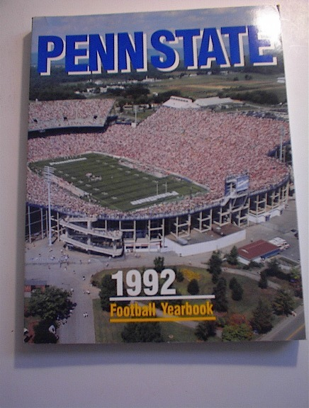 PENN STATE 1992 Football Yearbook