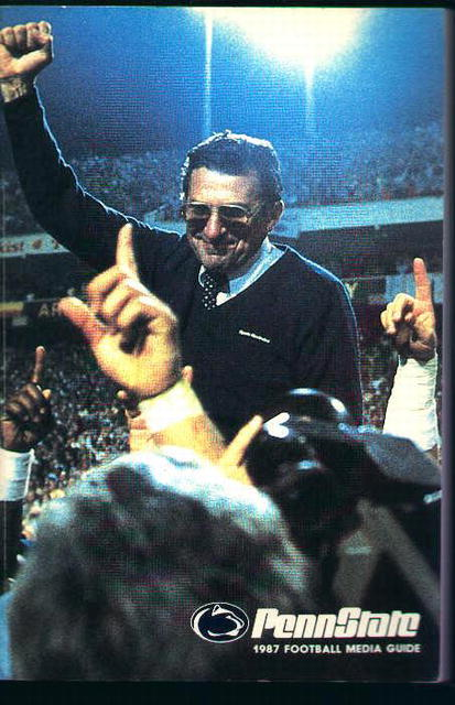 Penn State Football Media Guide from 1987!