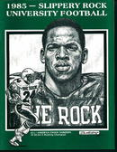 Slippery Rock University Football Guide 1985