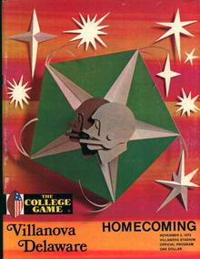 Villanova vs Delaware Homecoming Game Prgm'73
